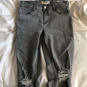 Grey PACSUN ankle jeggings